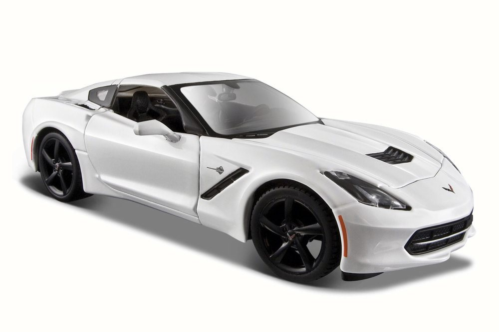 2014 Chevy Corvette Stringray Coupe, White Maisto 34505 1 24 Scale Diecast Model Toy Car... by Chevy