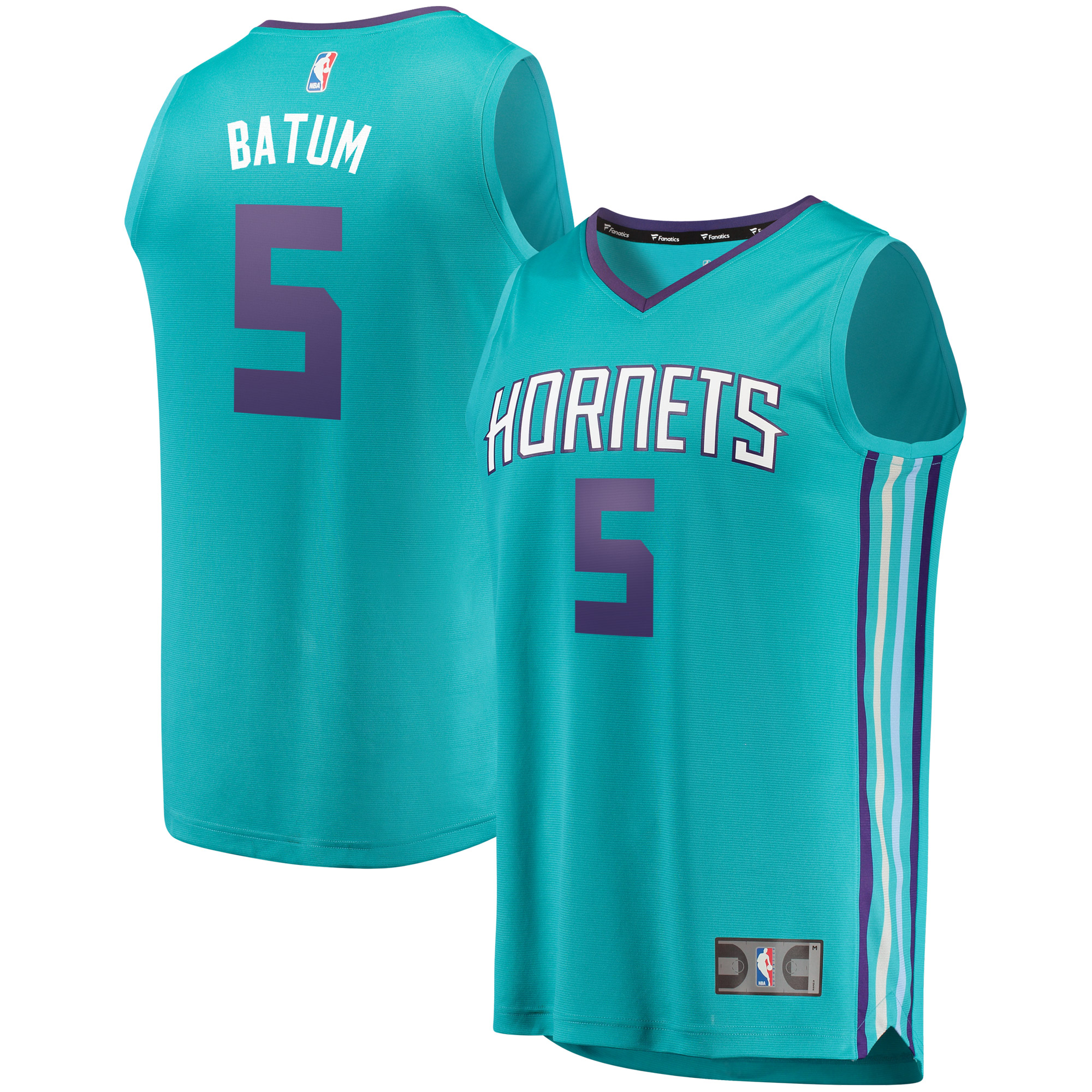 Nicolas Batum Charlotte Hornets Fanatics Branded Fast Break Replica Jersey Teal - Icon Edition