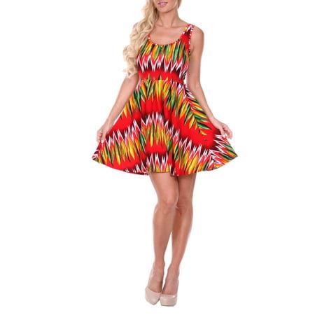 Women's Chevron Printed Fit and Flare Mini Dress
