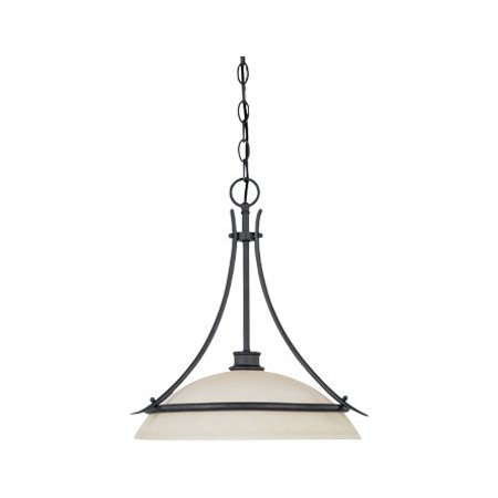 Oil Rubbed Bronze Single Light Pendant From The Montego Collection