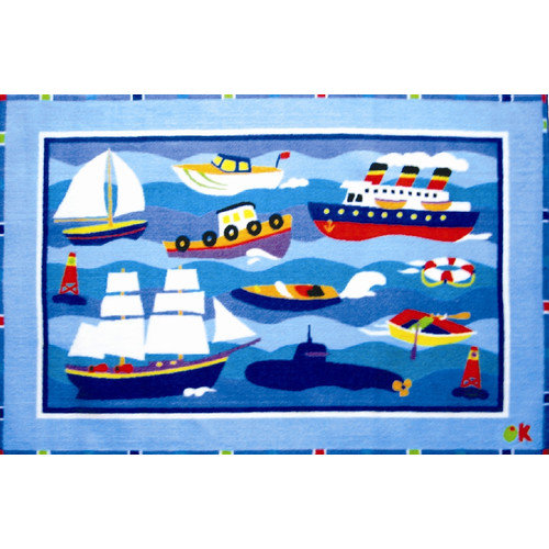 Fun Rugs Olive Kids Boats and Bouys Area Rug