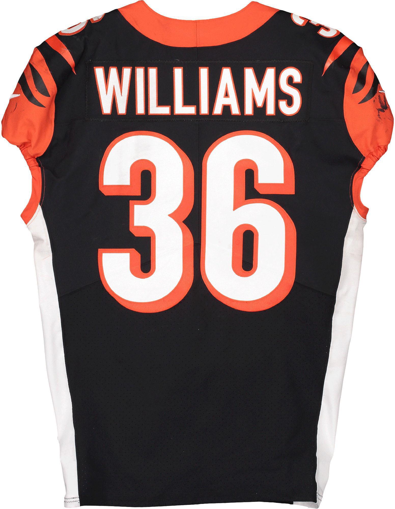 Shawn Williams Cincinnati Bengals Game-Used #36 Jersey vs. Pittsburgh Steelers on November 24, 2019 - Fanatics Authentic Certified - Walmart.com
