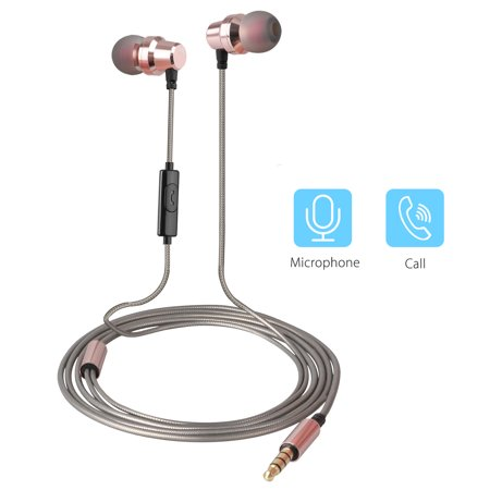 Wired Headphones, EEEKit 3.5mm Jack Noise Isolating in Ear Headphones Earphones with Pure Sound and Powerful Bass for iPhone, iPad, iPod, Samsung Smartphones and Tablets