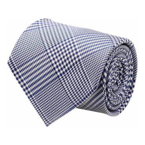 Men's Cufflinks Inc Glen Plaid Silk Tie