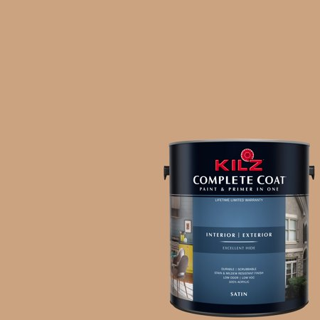 KILZ COMPLETE COAT Interior/Exterior Paint & Primer in One, #LC240-01 Raw