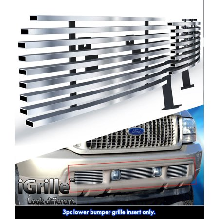 - Fits 99-04 Ford F250/F350 Super Duty Stainles Steel Bumper Billet Grille