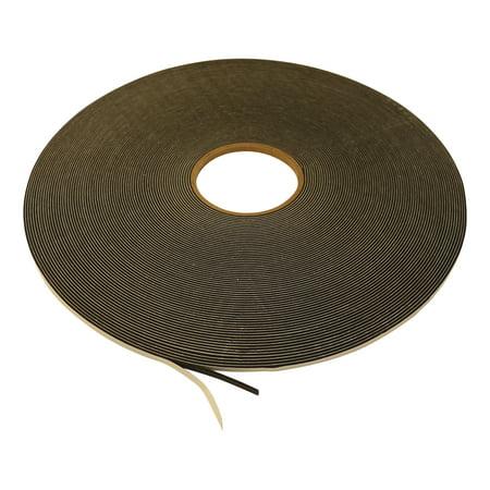 JVCC SCF-02 Single Coated PVC Foam Tape: 1/16 in. thick x 1/4 in. x 50 yds. (Black)