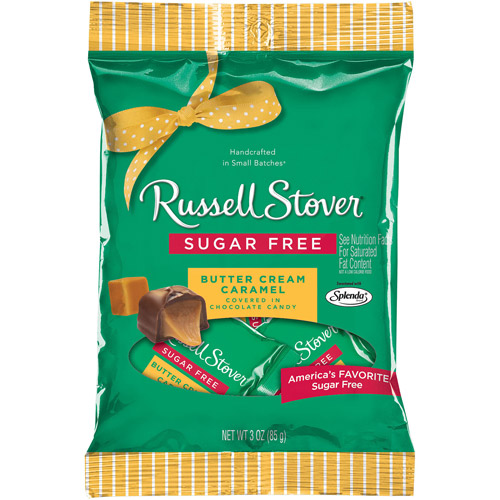 Russell Stover: Covered With Chocolate Candy Sugar Free Butter Cream Caramel, 3 Oz