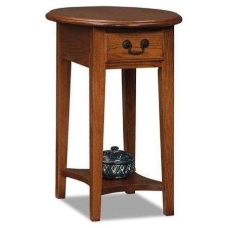Pemberly Row Oval End Table in Medium