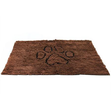 Dog Doormat Super Absorbent Micro Fiber Mat for Dirty Dogs, Cats, Pets - Brown (Microfiber Pet Mat)