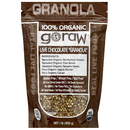 Go Raw Chocolate Granola, 16 oz, (Pack of 6)