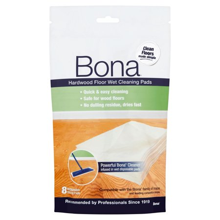 Bona Hardwood Floor Wet Cleaning Pads, 8 ct - Bona Hardwood Floor Wet Cleaning Pads, 8 Ct - Walmart.com