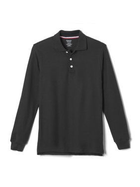 French Toast Boys School Uniform Long Sleeve Pique Polo Shirt (Little Boys & Big Boys)