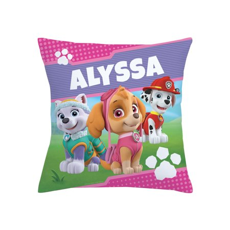 Personalized PAW Patrol Kids Throw Pillow