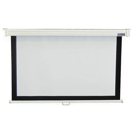 60 in. x 80 in. Econopro Deluxe Manual Wall Screen in 4:3 Video - Vutec Econopro Manual Wall Screen