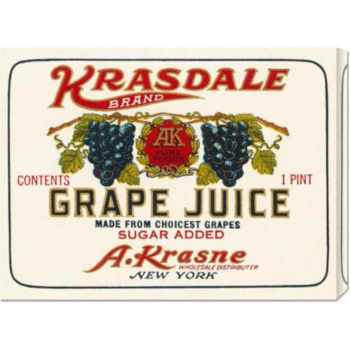 Kransdale Brand Grape Juice by Retrolabel