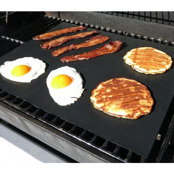 Heavy Duty Non Stick Reusable BBQ Grill Mat (Set of 2)