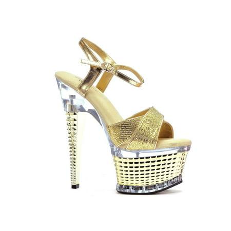 ELLIE Schuhe Ellie Schuhes E 649 649 E Disco 6 Crossed strap textuROT a5f488