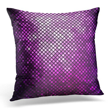 Purple Neon Light Rod (ECCOT Black Neon Purple Effect Abstract Mosaic Bright Violet Disco Pink Glow Shine Pillowcase Pillow Cover Cushion Case 20x20 inch )
