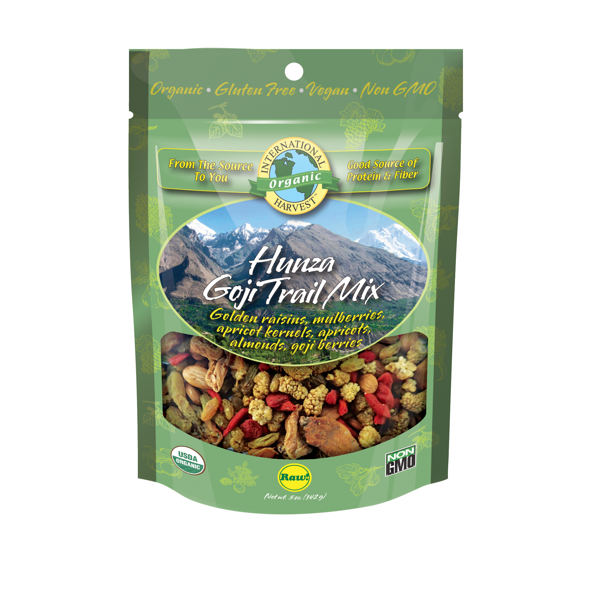 International Harvest Hunza Goji Trail Mix, 5 Oz