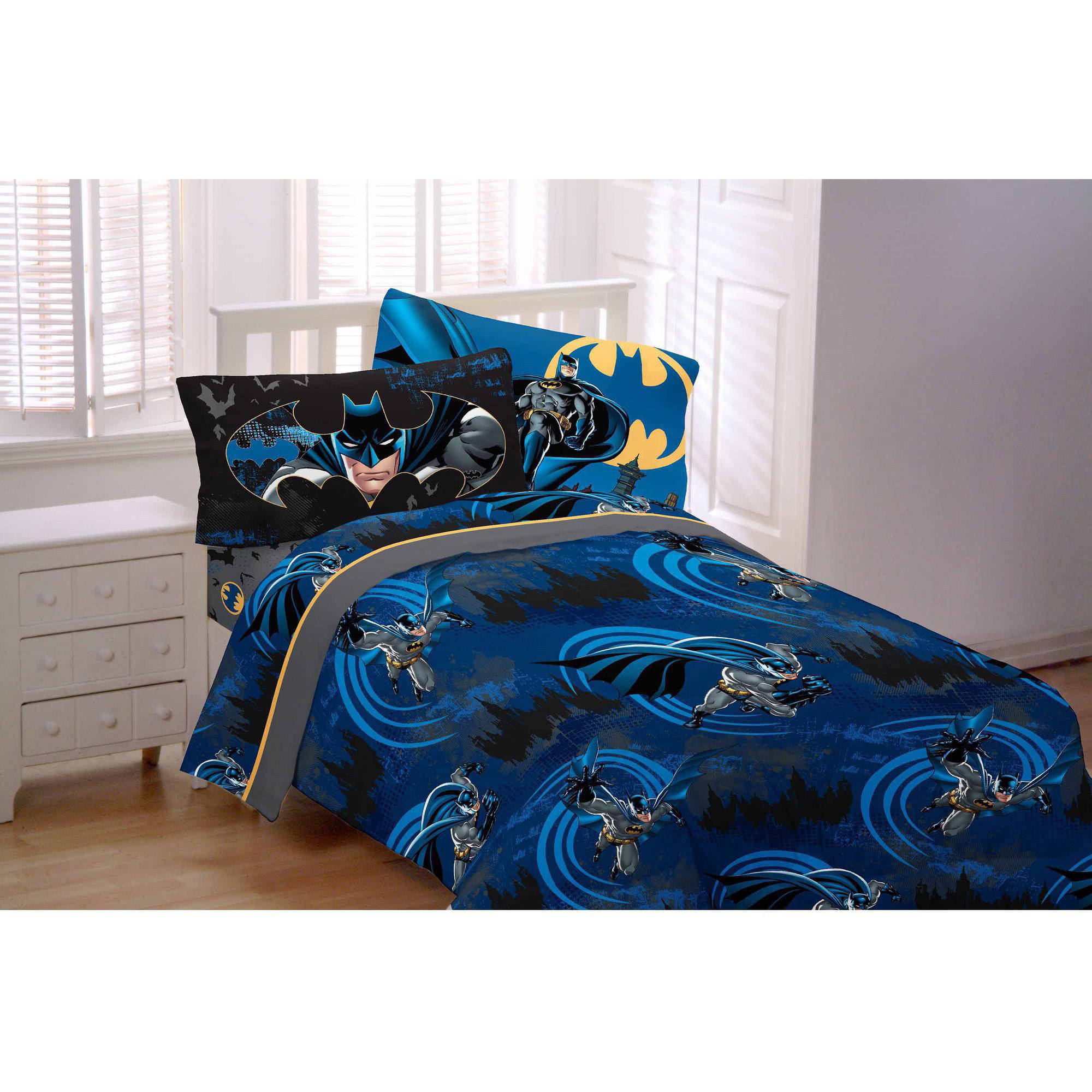 Batman 3-Piece Flannel Twin Bedding Sheet Set - Walmart.com