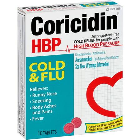 Coricidin RAP Rhume et grippe comprimés froids, paquet de 10