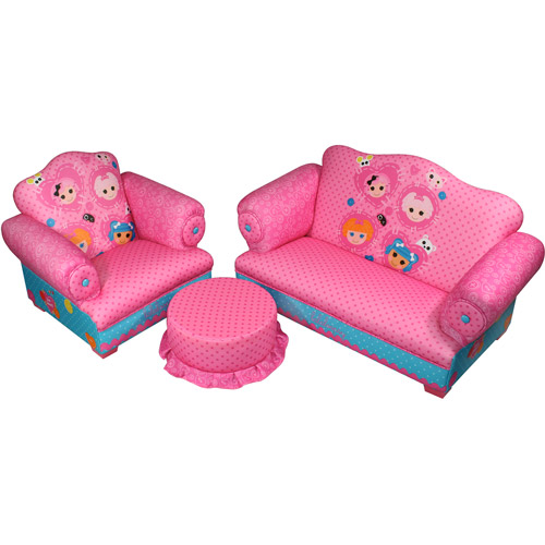 Lalaloopsy Polyester Sofa, Chair and Ottoman Set