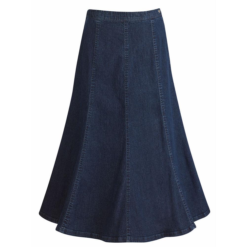 s denim boot skirt side zip a line walmart