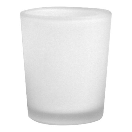 Koyal Wholesale Frosted Glass Candle Holder (Set of 12)