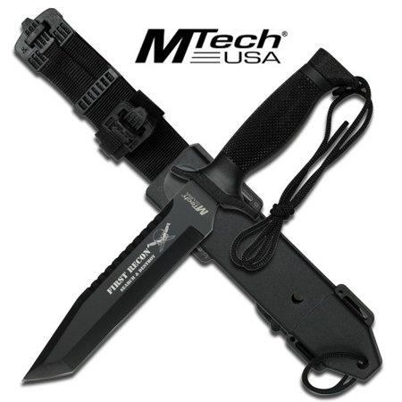 - FIRST RECON MTech Tactical Rescue Knife With Custom Sheath