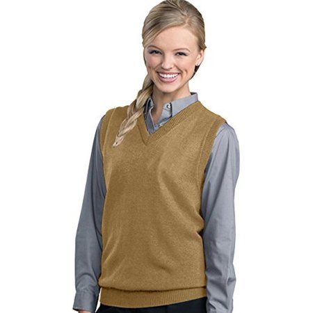 Ed Garments Women's V-Neck Durable Sweater Vest - Khaki - XXXX ...