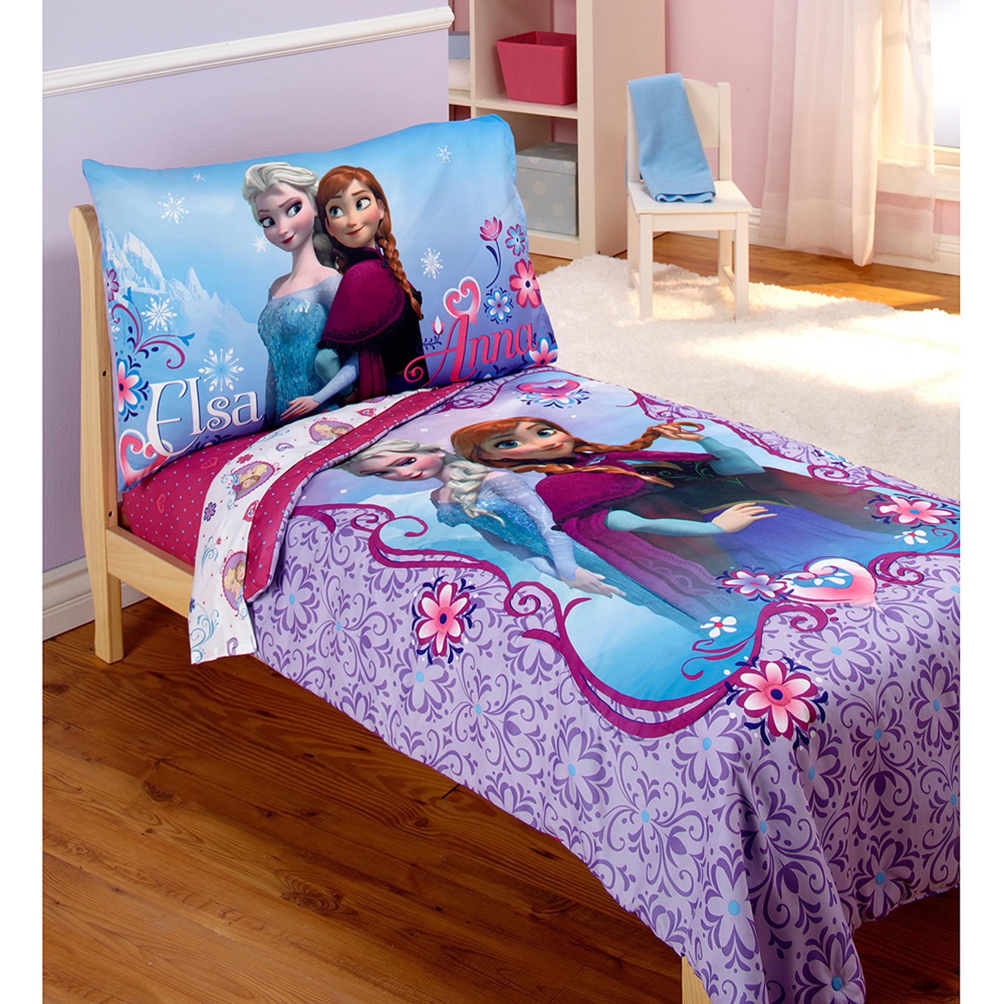 Disney Frozen Elsa & Anna 4pc Toddler Bedding Set
