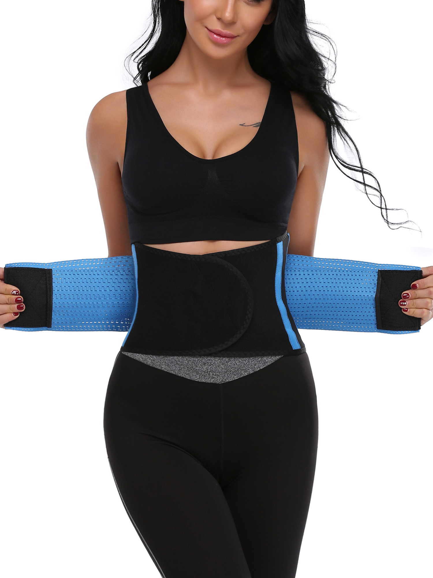 Women Elasticity Sweat Waist Trainer Corset Trimmer Hot Neoprene Belt Body Shaper Slimming