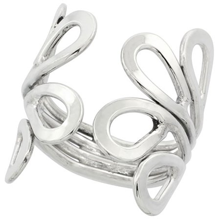 Sterling Silver Wire Wrap Crown Ring Handmade 1 inch long, sizes 6 - 10 (Handmade Wire Rings)