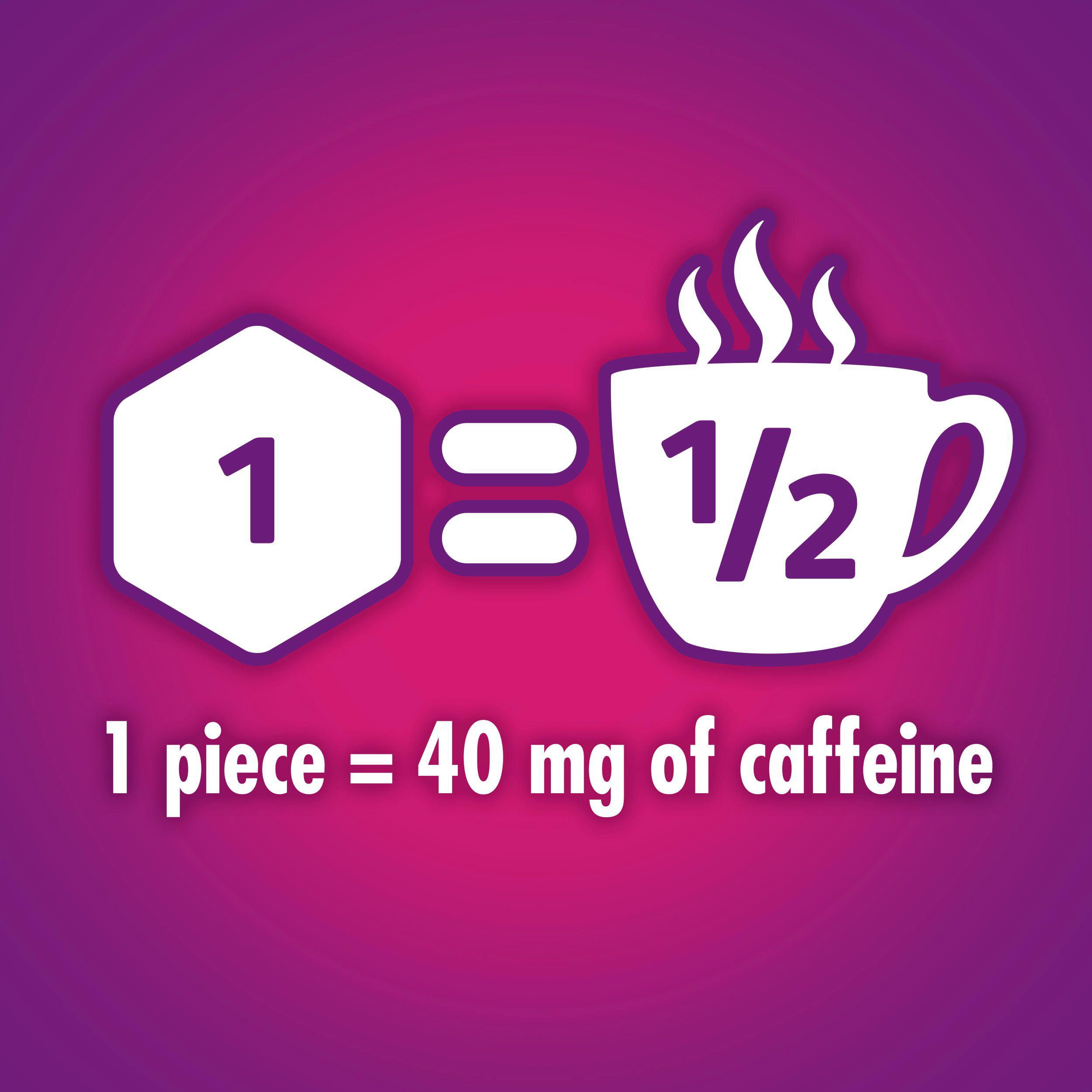 5 Gum Alert Caffeine Mint Gum, 8 Piece Single Packs, 8 Count