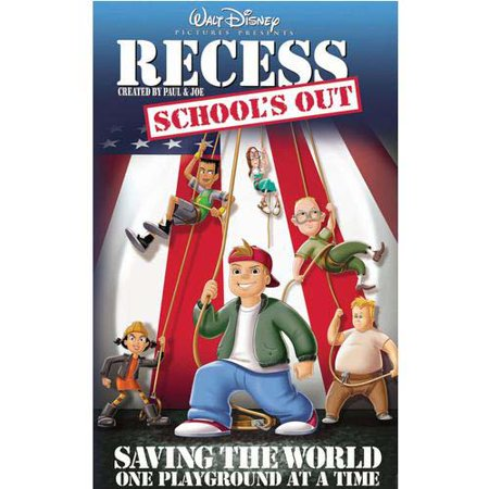 Disney Recess School's Out: Saving the World One Playground At A time VHS Tape