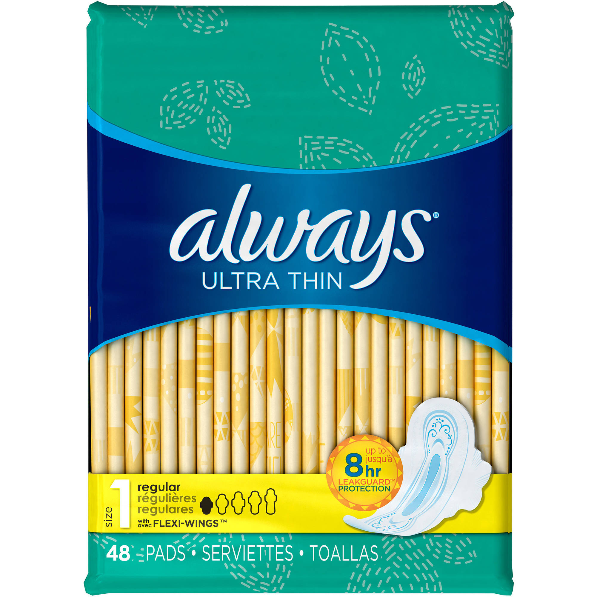 Always Ultra Thin Regular Pads without Wings, 44 count