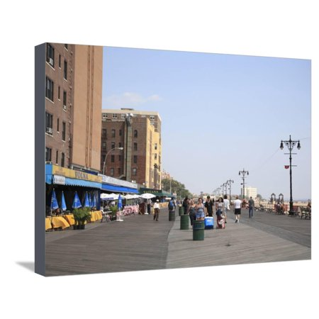 Brighton Party City (Brighton Beach Boardwalk, Little Russia, Brooklyn, New York City Stretched Canvas Print Wall Art By Wendy)