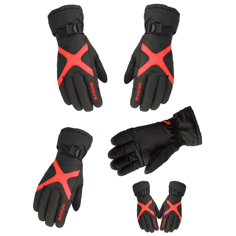 Winter Gloves Men And Women Ski Gloves Plus Velvet Thickened Warm Motorcycle Waterproof Non-Slip Bicycle Electric Cotton Gloves