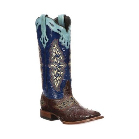 Women's Lucchese Bootmaker M5802.TWF Square Toe Fowler Heel Boot ()