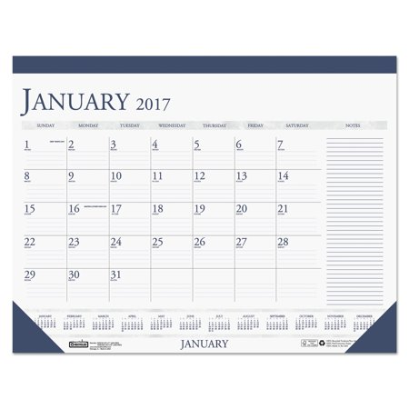 House Of Doolittle Recycled Two Color Monthly Desk Calendar W Large Notes Section  18 1 2  X 13   2017