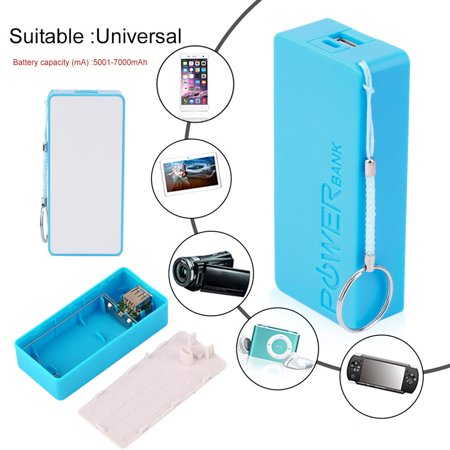 USB Charging Portable External Backup Battery Charger 2*18650 Case - image 3 of 6