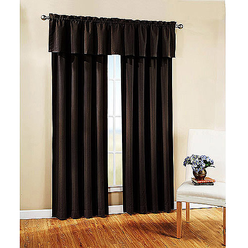 Mainstays Richland Stripe Room Darkening Polyester Curtain Panel ...