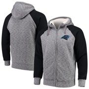 Carolina Panthers G-III Sports by Carl Banks Turning Point Sherpa Lined Full-Zip Jacket - Heathered Gray/Black