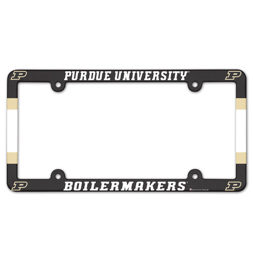 Purdue Boilermakers Plastic Full Color License Plate Frame