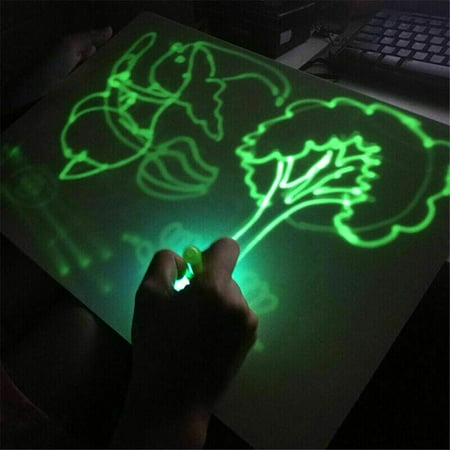 Drawing Board With Light Fun Developing Toy Kids Gift Magic Educational,With Drawing Pen And Eraser
