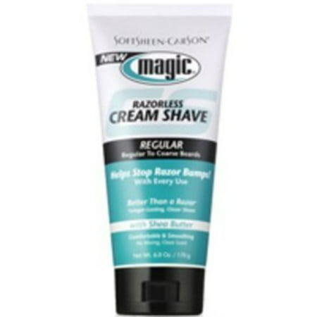 (2 pack) SoftSheen-Carson Magic Razorless Cream Shave - Extra Strength for Coarse Beards, 6 Oz ()