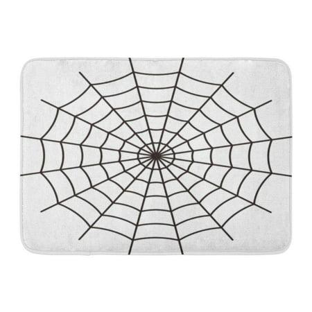 SIDONKU Net Spider Black Spiderweb Line Goth Pattern Halloween Doormat Floor Rug Bath Mat 23.6x15.7 inch](Floor 10 Halloween)
