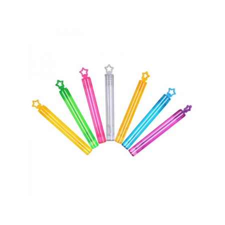 Lavaport 7pcs/24pcs Heart Bubble Wands Assortment Neon Party Favors Bubbles Toy empty Wands