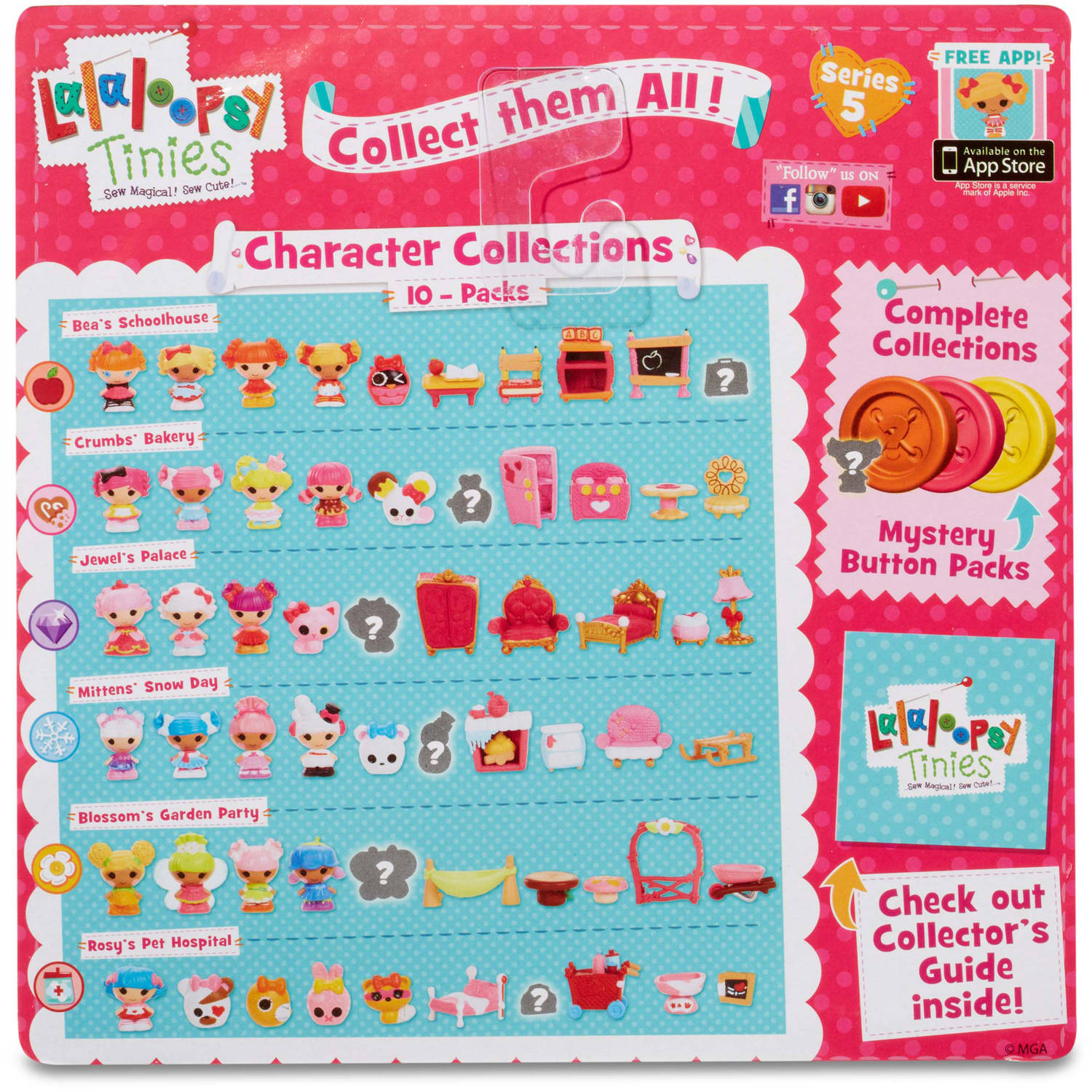 Lalaloopsy Tinies 10 Pack Series 5, Mitten\'s Snow Day - Walmart.com